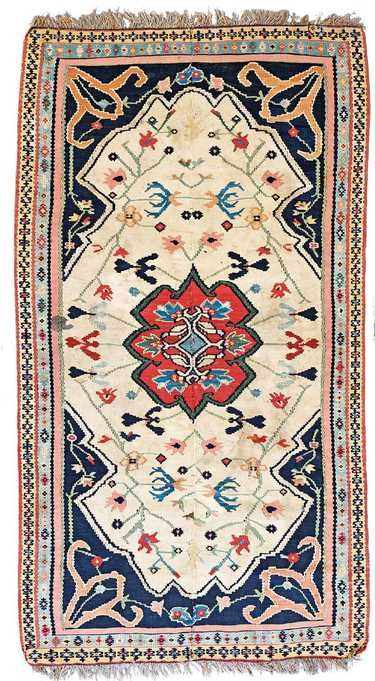 Senneh Kilim Fragment 158 x 83 cm (5ft. 2in. x 2ft.