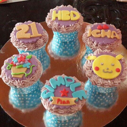 Pika pika bday cupcakes