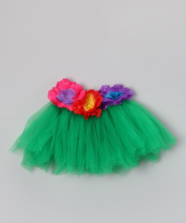 Maybe the 1st birthday party will be a luau! Green Floral Luau Tutu - Infant, Toddler & Girls