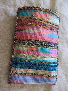 beaded tapestry bag