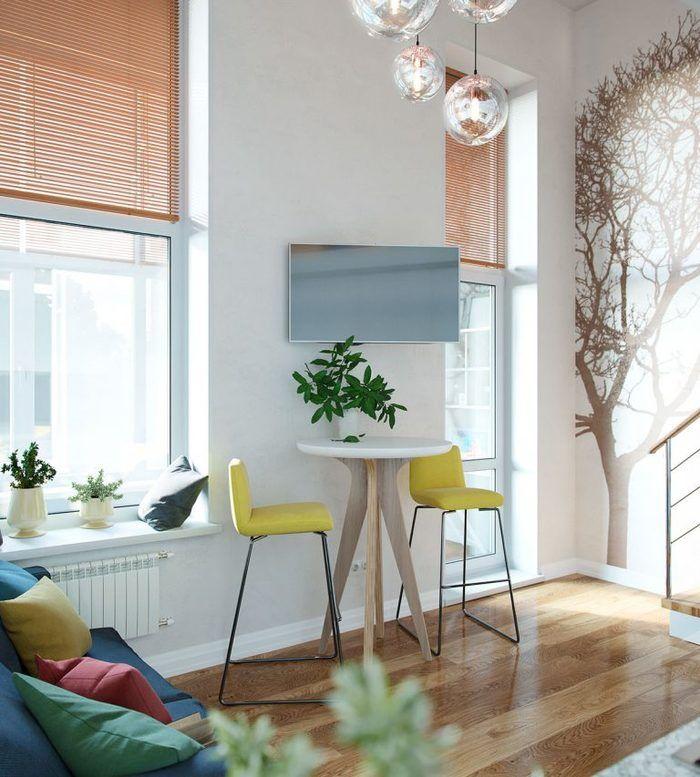 Крошечная студия в Москве со спальней-чердаком – Красивые квартиры