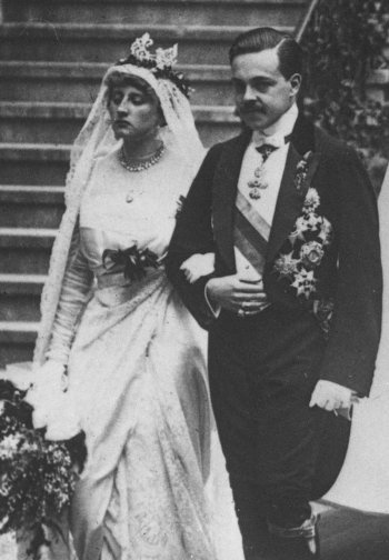 Manuel II of Portugal and his wife Augusta Viktoria