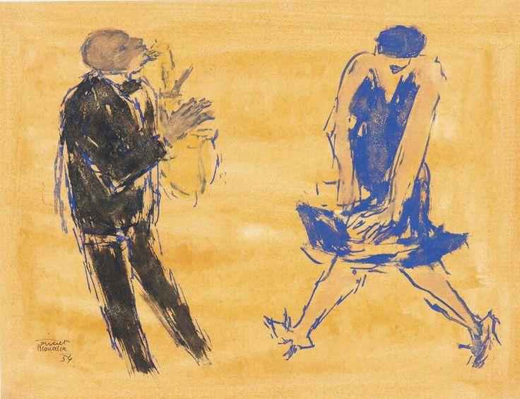 Fikret Mualla - Müzayede (1956)