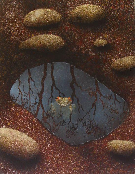 Lin Onus (1948-1996) - Garkman Na Minguli, 1995