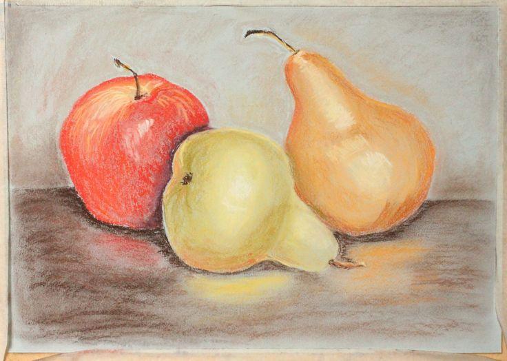Пастель, фрукты, 2016