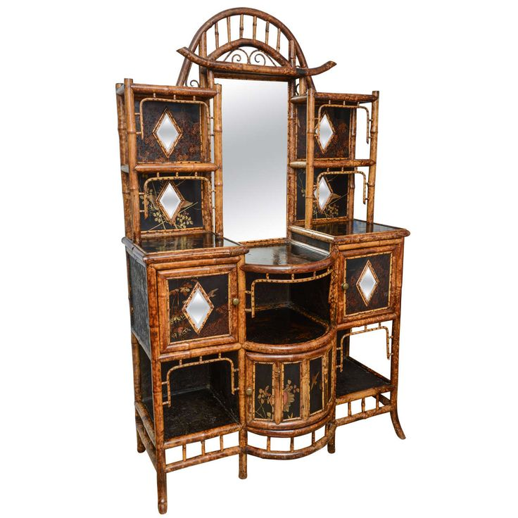 Rare 19th. c English Bamboo Cabinet | From a unique collection of antique and modern cabinets at https://www.1stdibs.com/furniture/storage-case-pieces/cabinets/