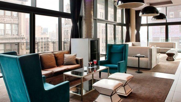 Gansevoort Park Avenue: The 20-story, 249-room Gansevoort Park is design trailblazer on Park Avenue. #livingroom #inspiration