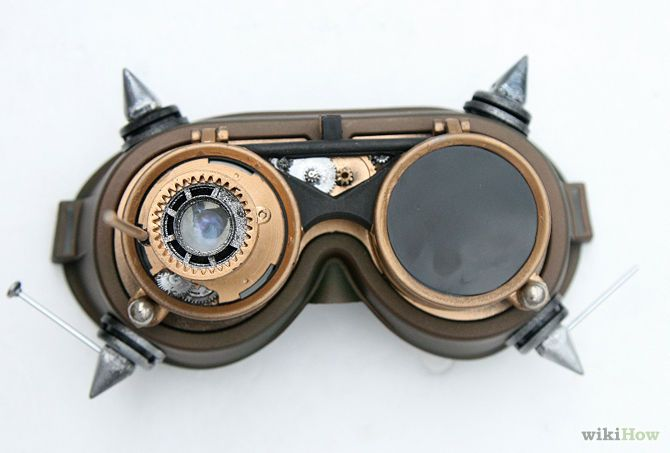 How to make steampunk goggles- ME LOVE