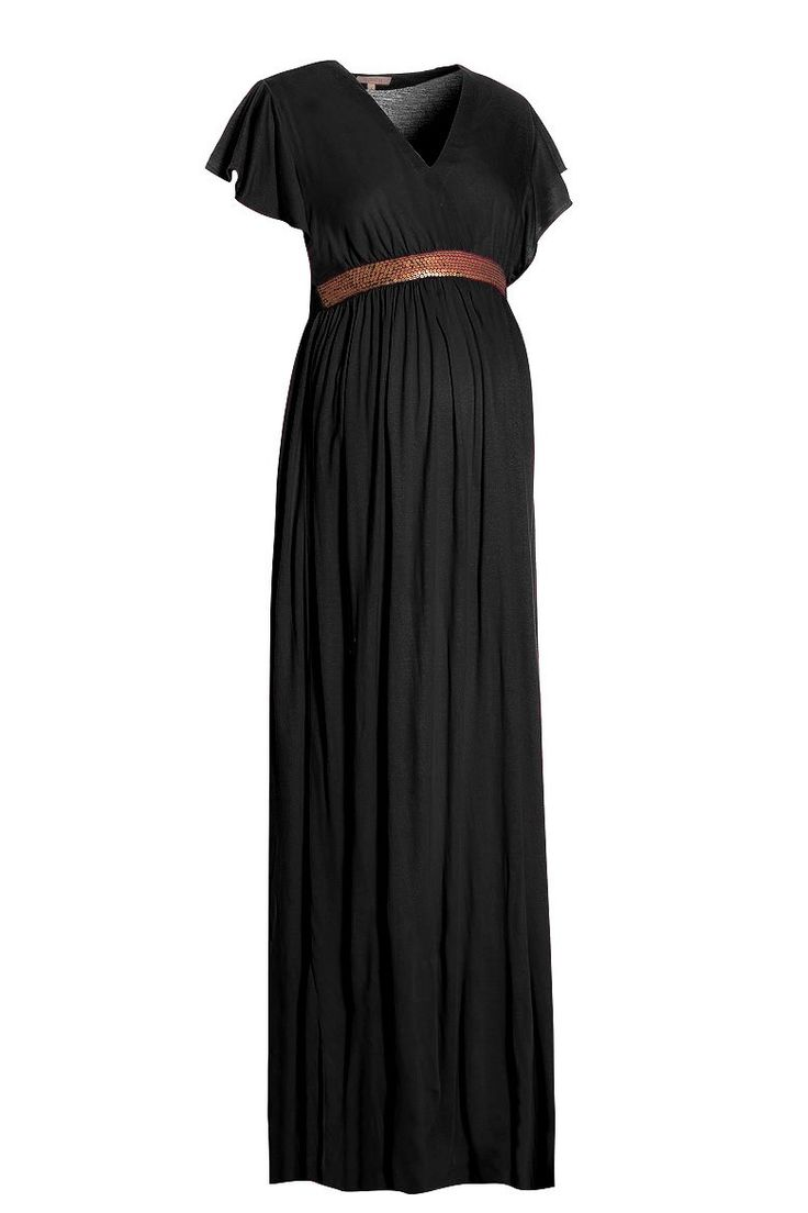 BLOSSOM EMPIRE SEQUIN MATERNITY MAXI DRESS NORA.  Love it!  elegant and way comfy!  #mommystyle