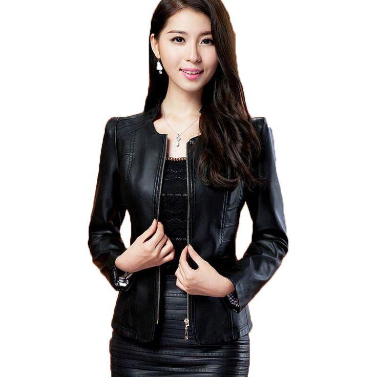 Biker Jacket Women Leather Jacket 2017 New Plus Size M-3xl Women Motor Jackets Solid Slim Pu Leather Motorcycle Jackets Coats
