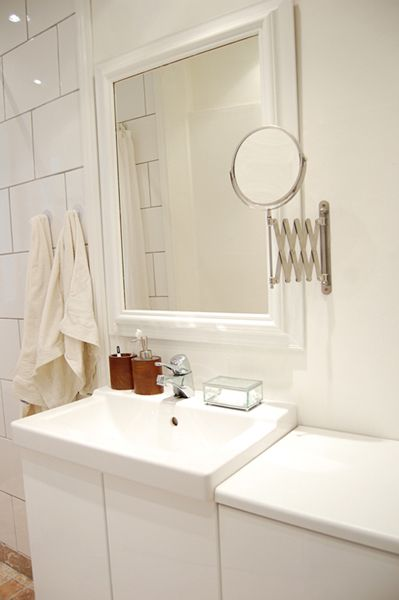 White Making The Most Of A Small Bathroom