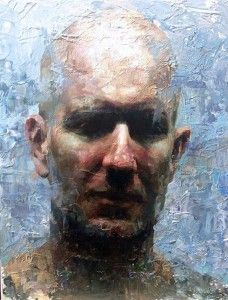 contemporary figurative artist male bald head