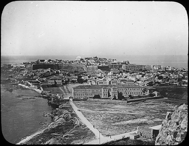 """Grèce ; Crète ; Rethimo Entrée du port Musée pédagogique PublicationLivret pédagogique : """"La Crête"""" (1913)"""