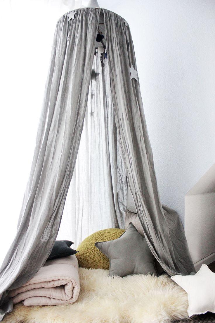 Die besten 25 baldachin ideen auf pinterest decke vorhangsstange gardinenstange kopfteil und - Baldachin kinderzimmer ...