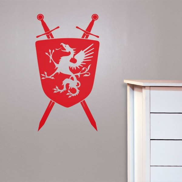 #autocollants #decalques #wallstickers #decals Bouclier de chevalier Griffon / Knight shield with a Griffin.