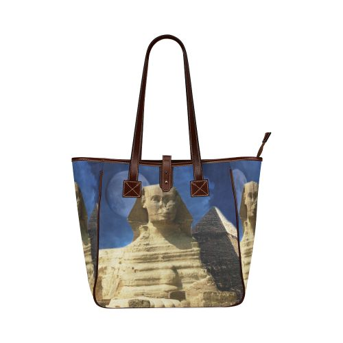 Sphinx and Pyramid Classic Tote Bag. FREE Shipping. #artsadd #bags #egypt