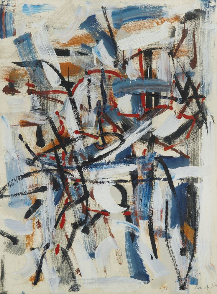 Jean-Paul Riopelle 1923 - 2002 SANS TITRE SIGNED; OIL ON PAPER LAID DOWN ON CANVAS. EXECUTED IN 1958.