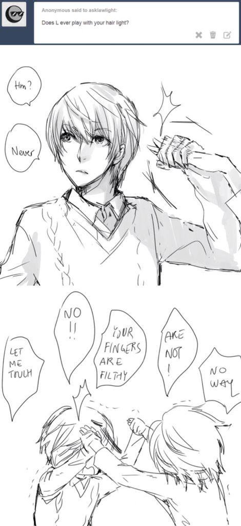 Tags: Death Note Tumblr, Light Yagami, L Lawliet