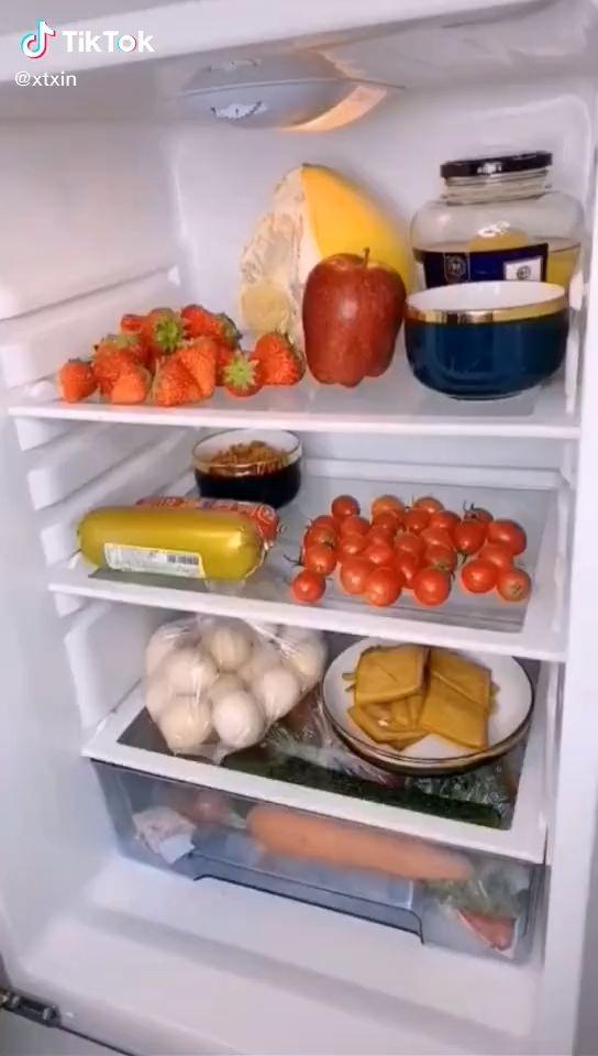 tiktok product retractable fridge drawer organizer vídeo em 2020 almoço geladeira lanches on kitchen organization tiktok id=67731