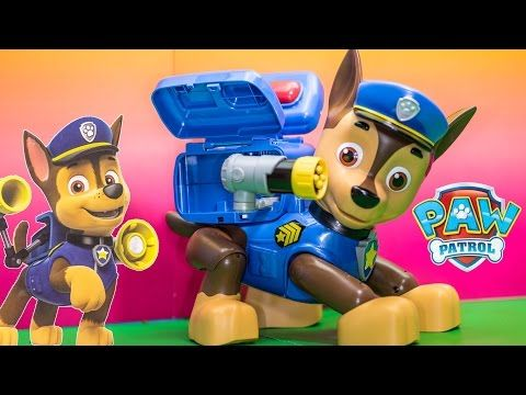 PAW PATROL Nickelodeon Paw Patrol Mission Chase Paw Patrol Video Toy Review - YouTube