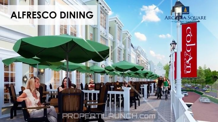 Alfresco Dining @ Arcadia Square Serpong