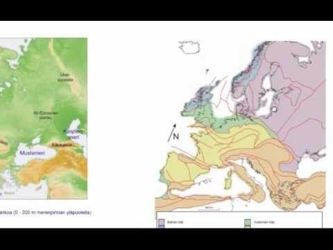 ▶ Euroopan pinnanmuodot - YouTube