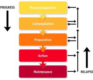 transtheoretical model of change Prochanska personal trainer