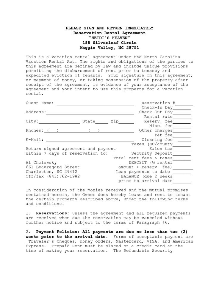 vacation rental agreement template 9 vacation rental agreement free