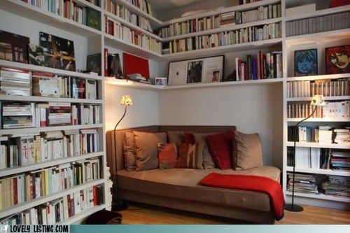I just fell in love.: Ideas, Home Libraries, Dreams, Libraries Design, Reading Corner, Reading Nooks, House, Books Nooks, Reading Spots