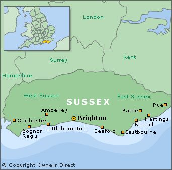 Map Showing London And Rye The Latter In Sussex To Tame The Wind