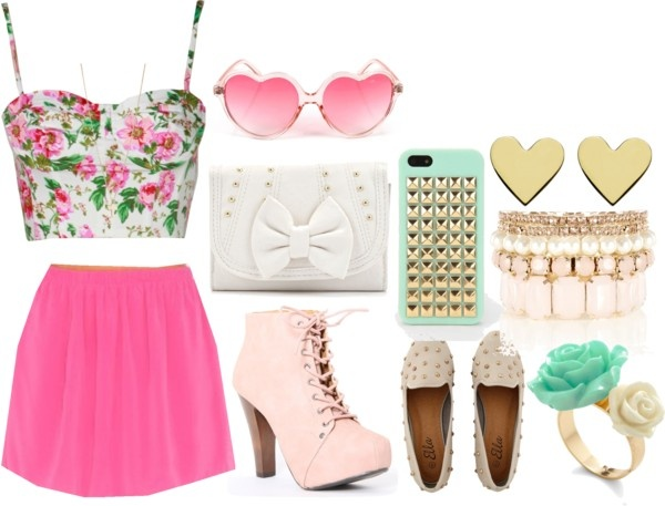 U0026quot;girly date outfitu0026quot; by lilcaligrl on Polyvore   Polyvore   Pinterest   Outfit sets Polyvore and ...