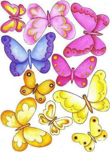 Easy Doodle butterflies