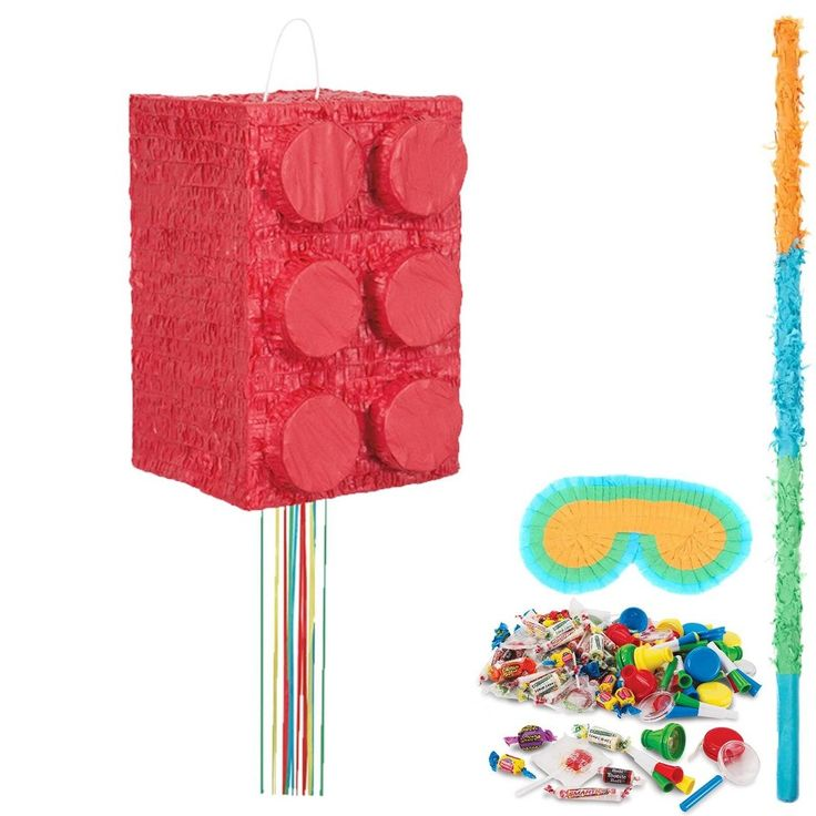 Lego block party pinata kit multicolored pinata candy