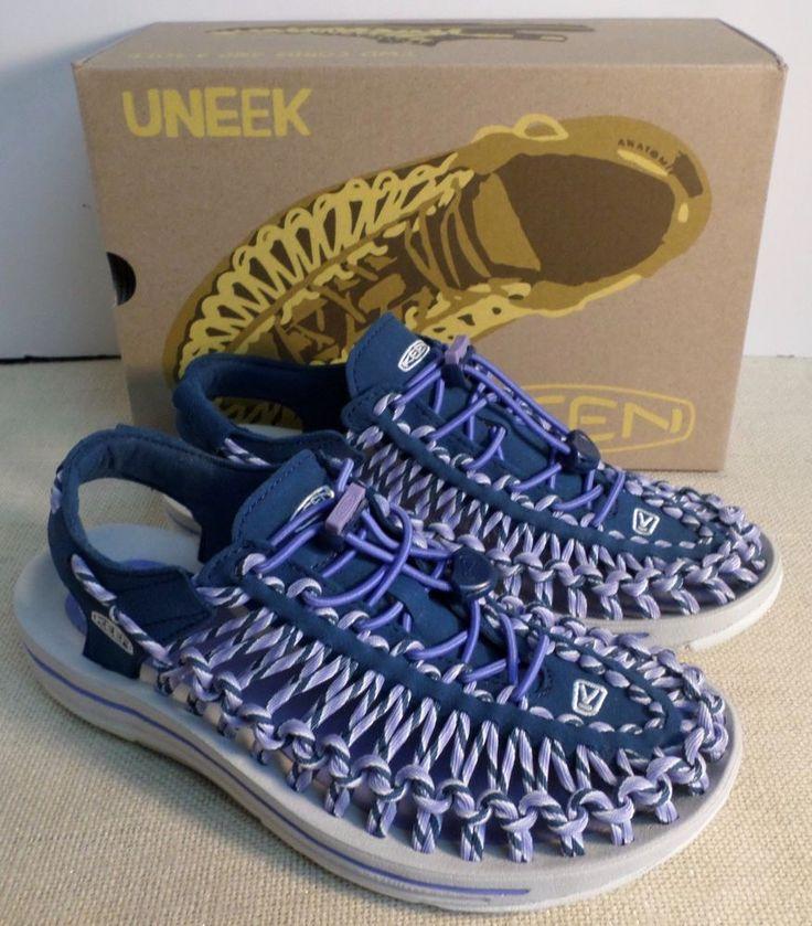 Keen 1014631 women's uneek slice fade periwinkle sport sandals new in box