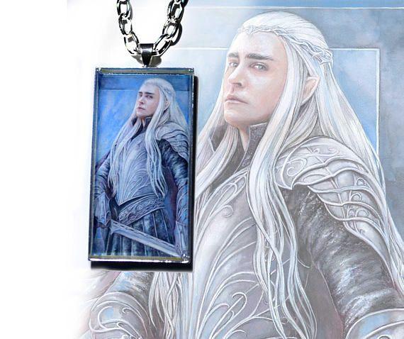 Elven king  rectangle pendant elf elven jewellery fantasy