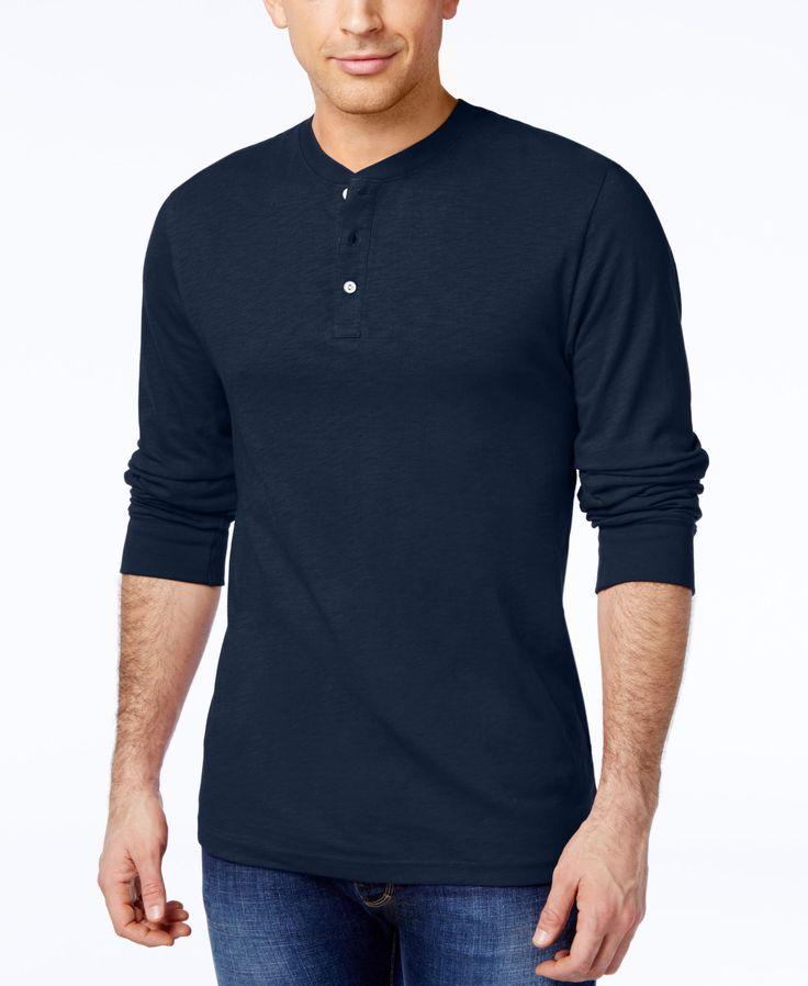 Club Room Men's Sawyer Solid Henley, Only at Macy's
