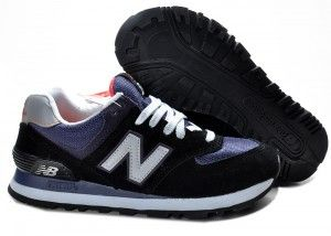 Top Quality New Balance 574 Women Black Purple Track Shoes
