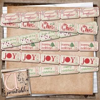 FREE printable - Xmas Tickets U printables by RebeccaB