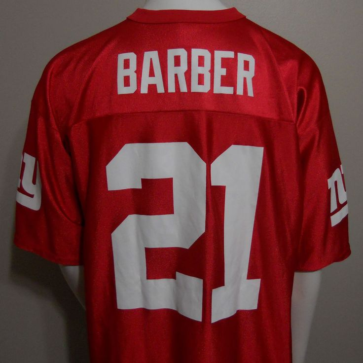 New York Giants Tiki Barber Jersey Size XL NFL Players Inc