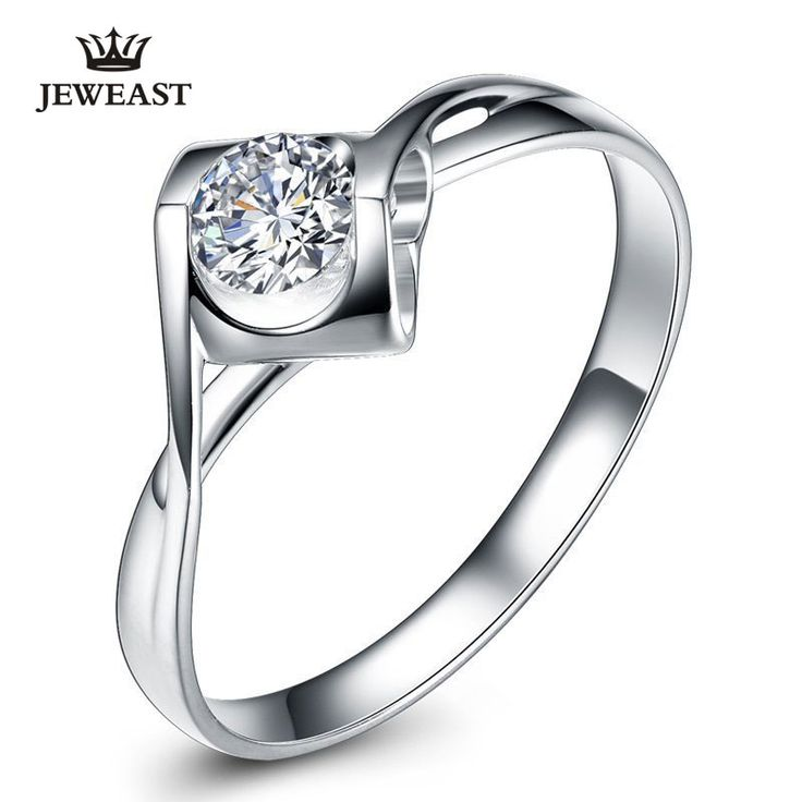 Natural diamond Ring 18k Gold Women Lover Couple Anniversary Romantic Propose Engaged Wedding Party South African 2017 New Good