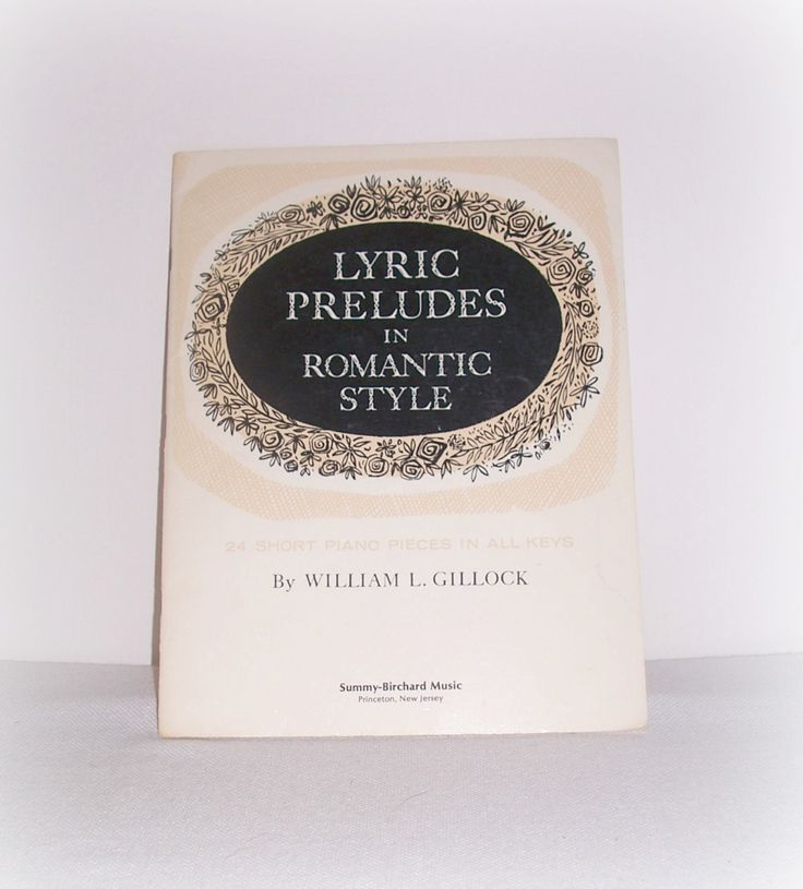 """Vintage Music Piano Book """"Lyric Preludes in Romantic Style"""" 24 Short Piano Pieces in All Keys, Romantic Period Music,All Major Minor Keys by SheCollectsICreate on Etsy"""