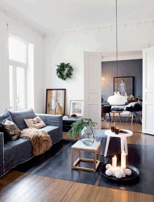This laid-back home is decorated in an elegant but casual style. The color theme is a denim teal-blue, a very unique hue that can be difficult to work with. When...
