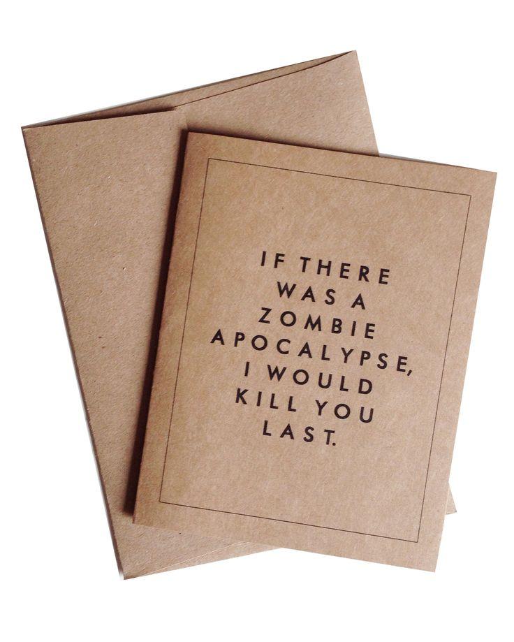 Zombie Apocalypse Card Set
