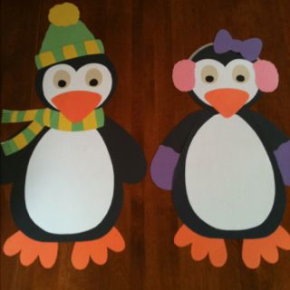 My penguins are ready for winter and my classroom door :)