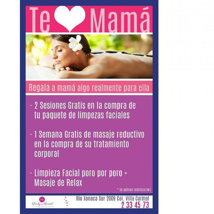 Regala a mamá algo realmente para ella  #luckymontiel #Belleza #Spa #Cosmetology #Relax #DiadelaMadre #10deMayo #Mama #Regalo #Promocion #Mujer #Belleza #Limpiezafacial #MasajeReductivo #DelineadoPermanente #Puebla #Amor http://tipsrazzi.com/ipost/1510544686631135054/?code=BT2iGOoAKdO