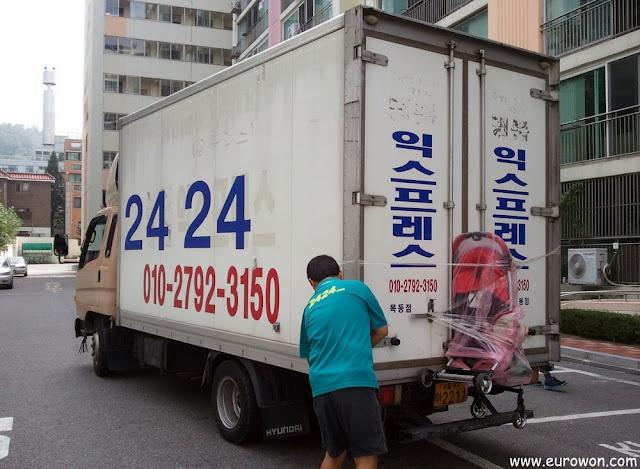 Mudanza en Seúl, al estilo coreano.