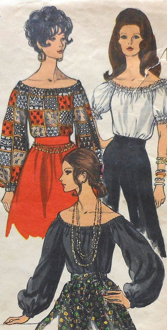 Vintage Vogue Blouse Sewing Pattern