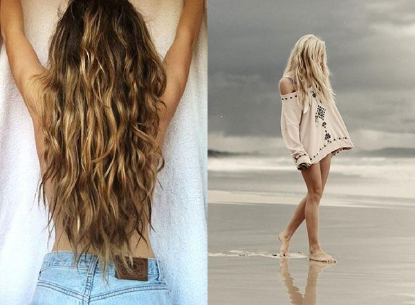 how to make beach waves overnight