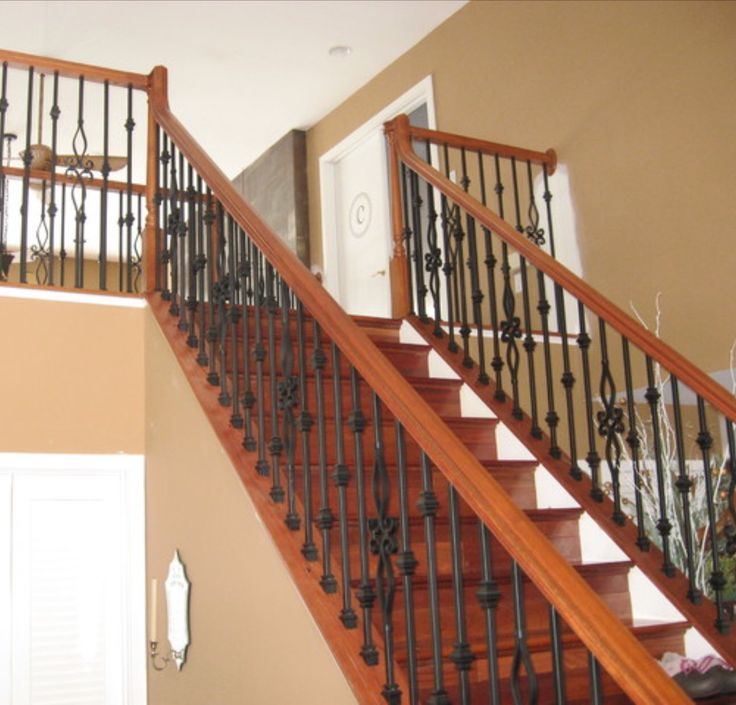 Best Decorative Wood And Wrought Iron Railings Wood 400 x 300