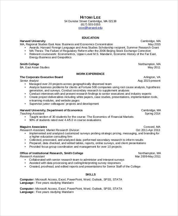 Data Analyst Resume Resume Examples Resume Summary Data Analyst